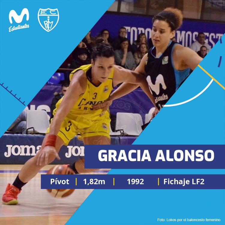 Gracia Alonso, primer fichaje de Movistar Estu LF2
