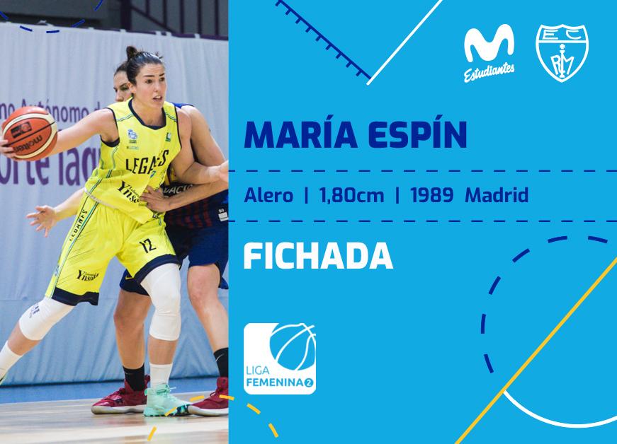 María Espín regresa a Movistar Estu LF2