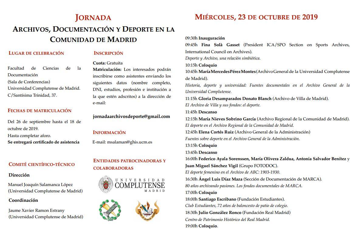 Fundación Estu, en Jornada Archivos Deporte UCM