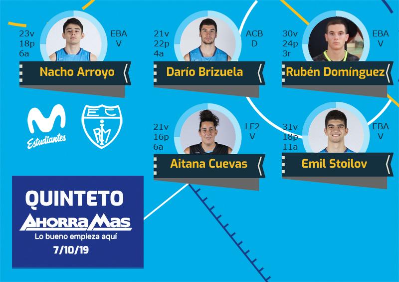 1er Quinteto Ahorramás de la temporada 19-20