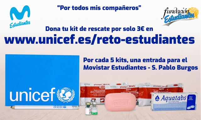 Dona 5 kits a UNICEF y ven al basket
