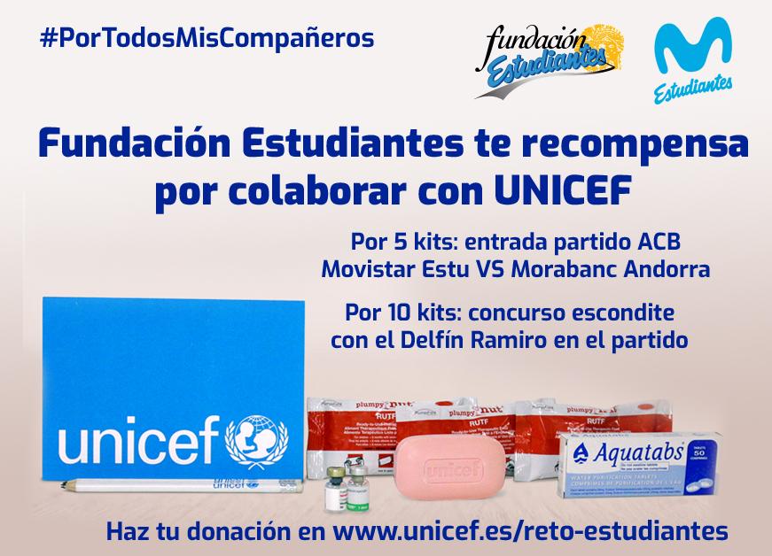 Reto rescate de UNICEF: colabora y Fundación Estudiantes te recompensa