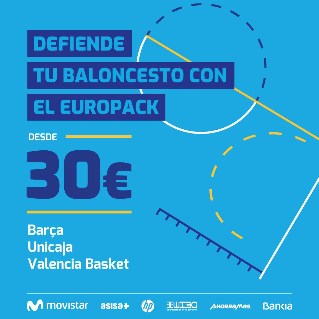 Europack: Unicaja, Valencia y Barça