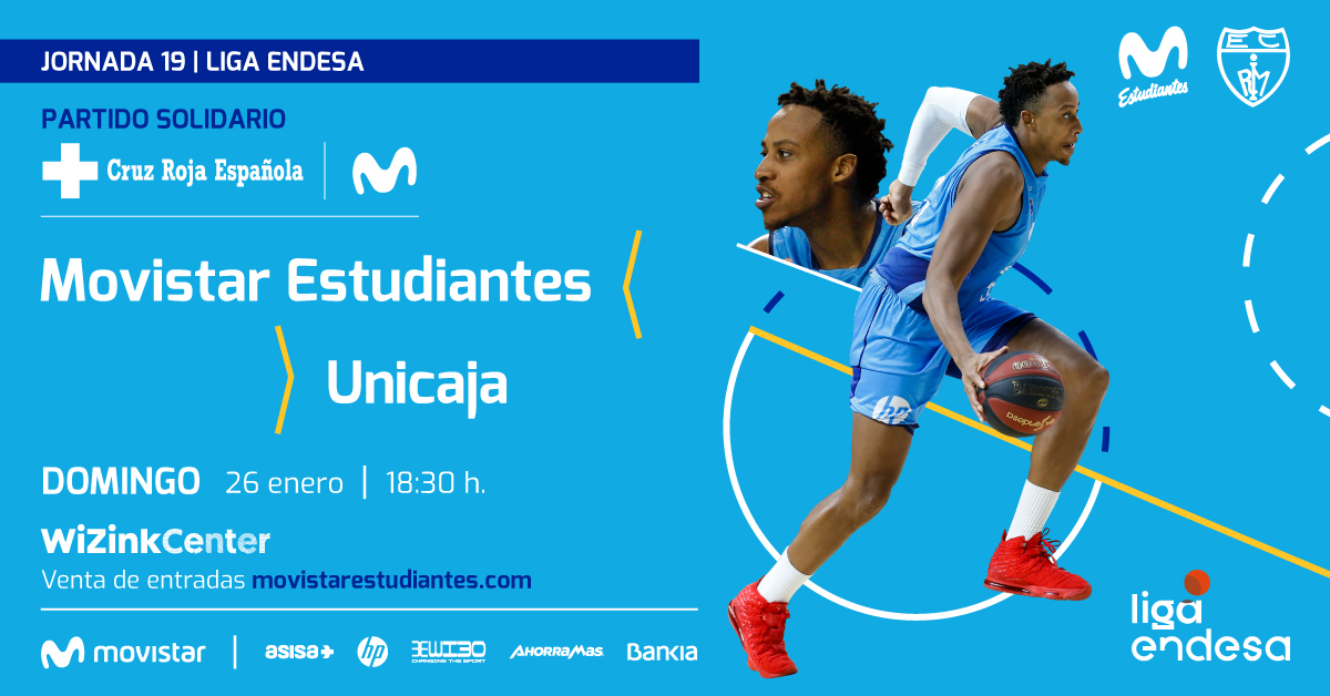 Movistar Estu- Unicaja, domingo 26, 18:30h