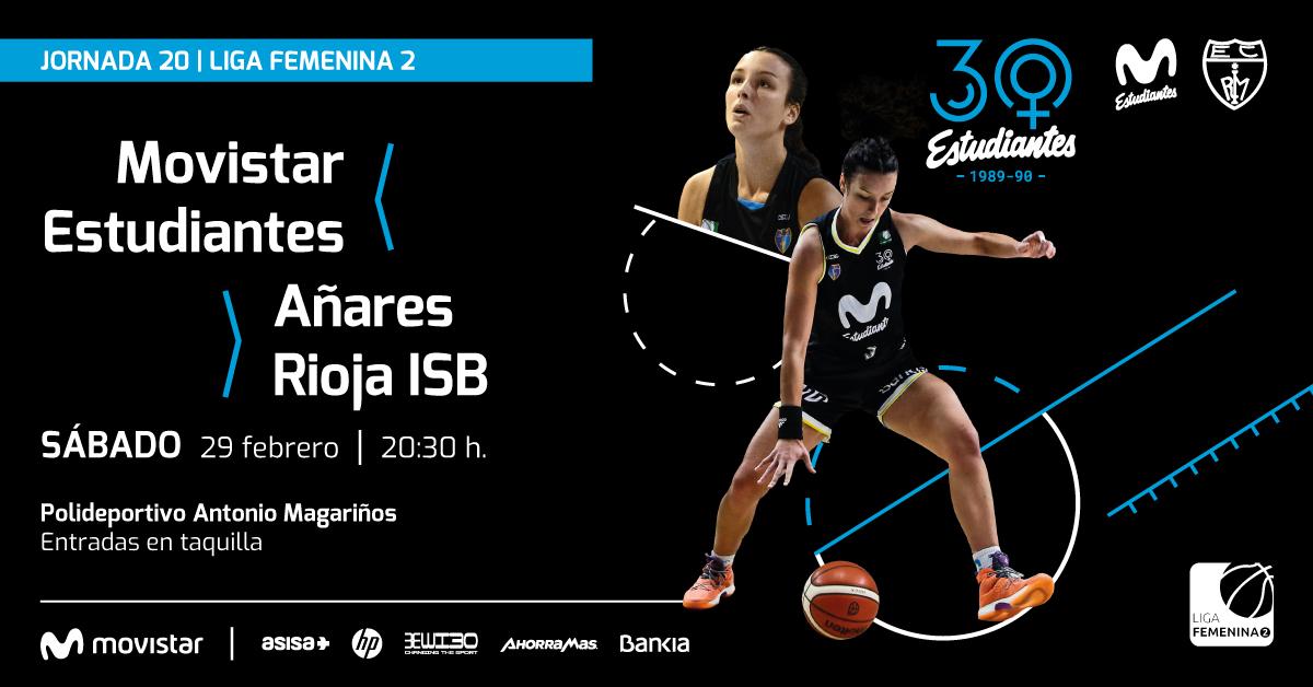 Sábado 29 20:30h, LF2 vs Añares Rioja en Magariños