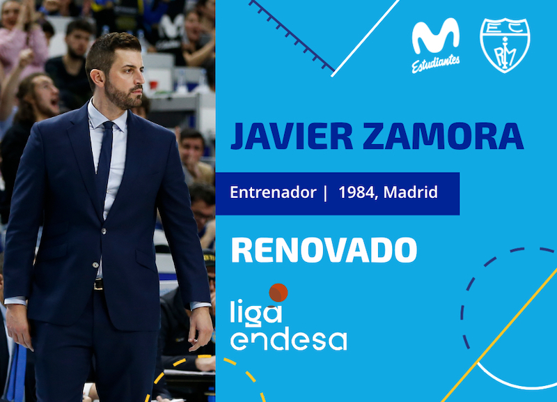 Javier Zamora, Entrenador de Movistar Estudiantes 2020-2021