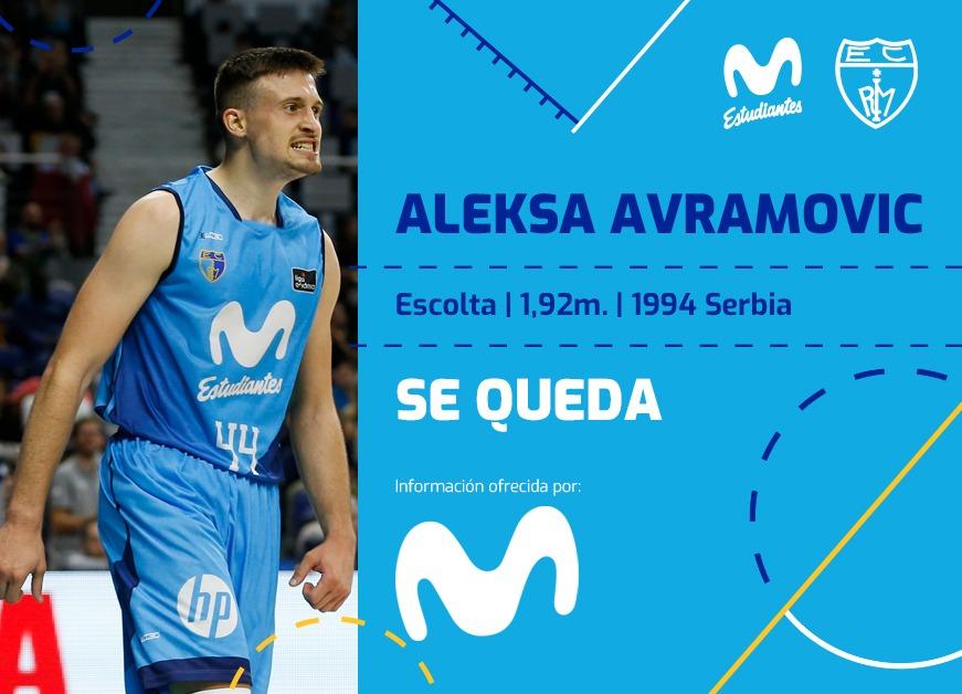 ACB: Avramovic se queda en Movistar Estudiantes