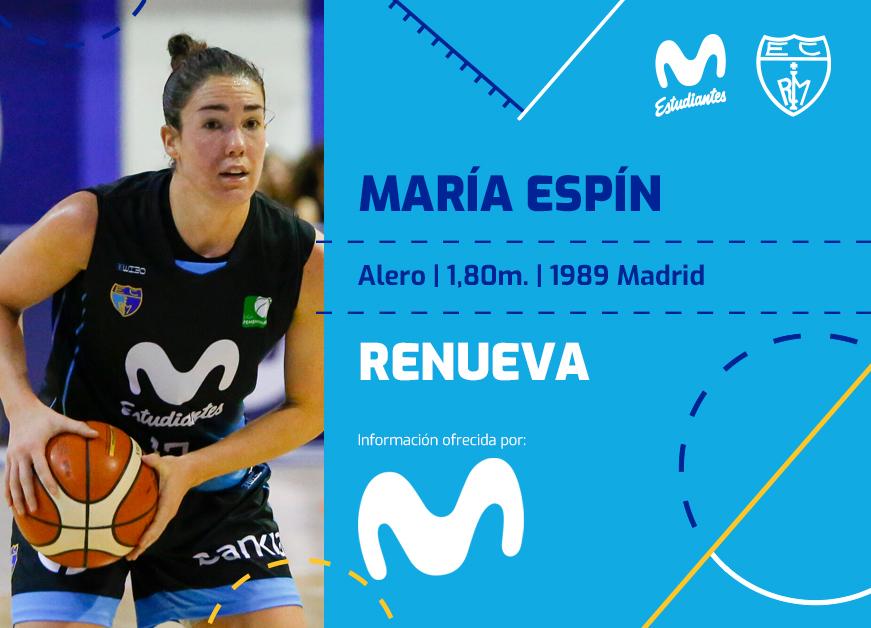 LF: María Espín, primera renovación en la plantilla