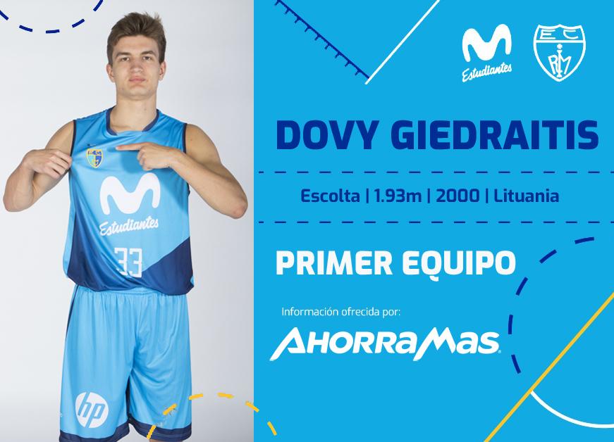 ACB: Dovydas Giedraitis, al primer equipo de Movistar Estudiantes