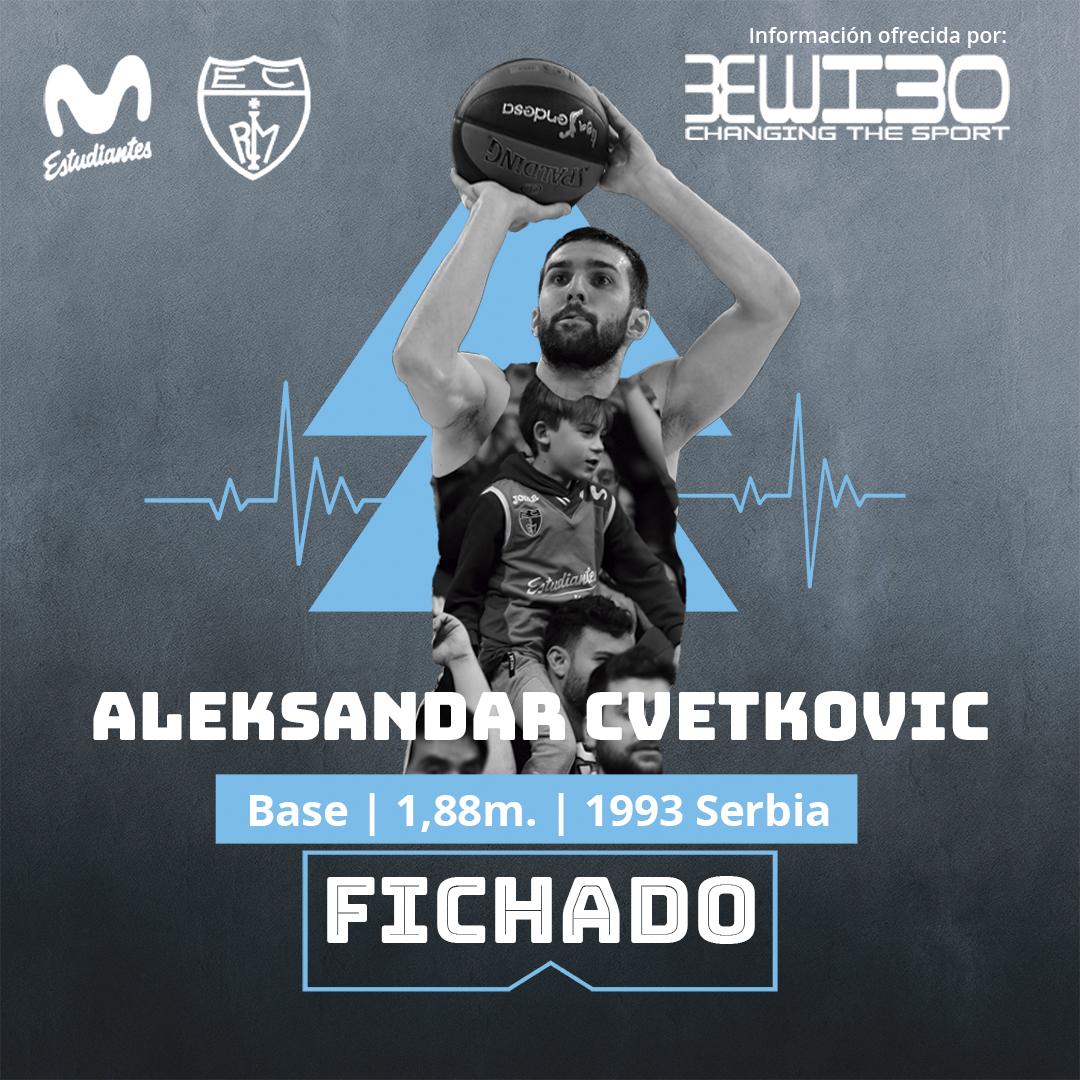 ACB: Cvetkovic regresa a Movistar Estudiantes