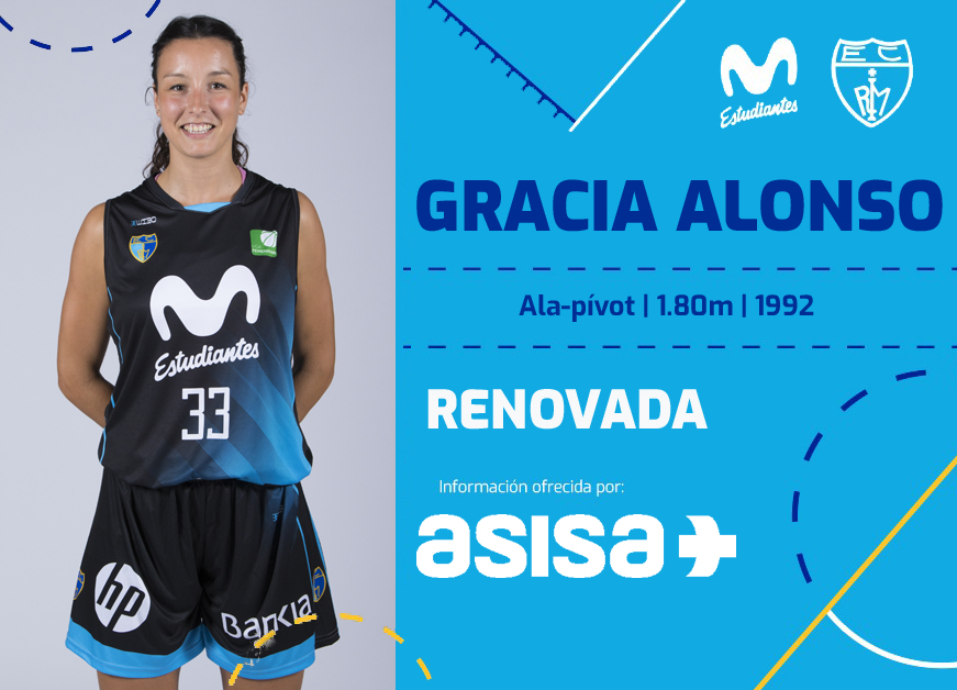Gracia Alonso regresa a LF con Movistar Estudiantes
