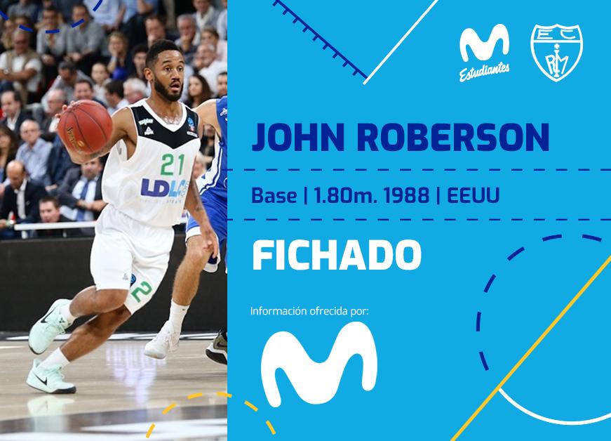 ACB: John Roberson llega a Movistar Estu