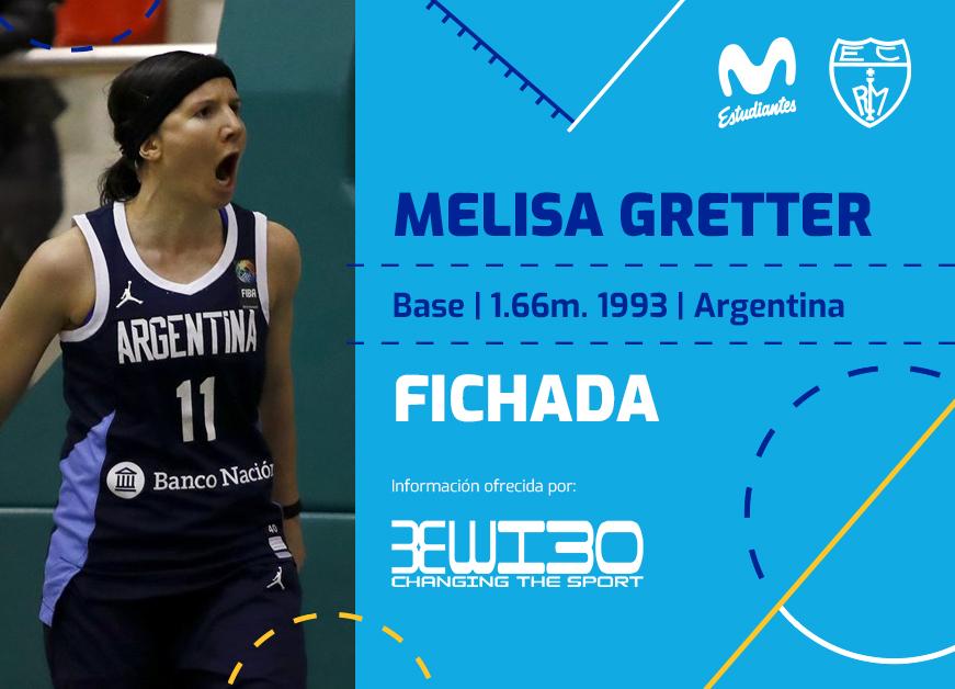 LF: Melisa Gretter firma con Movistar Estudiantes