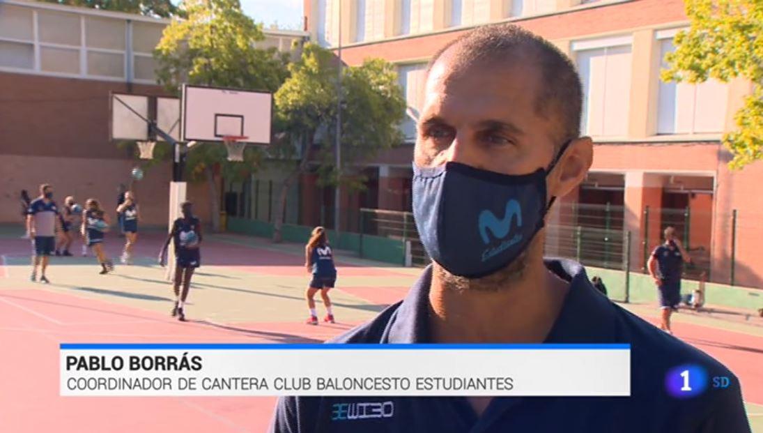 El uso de mascarillas en cantera, en TVE