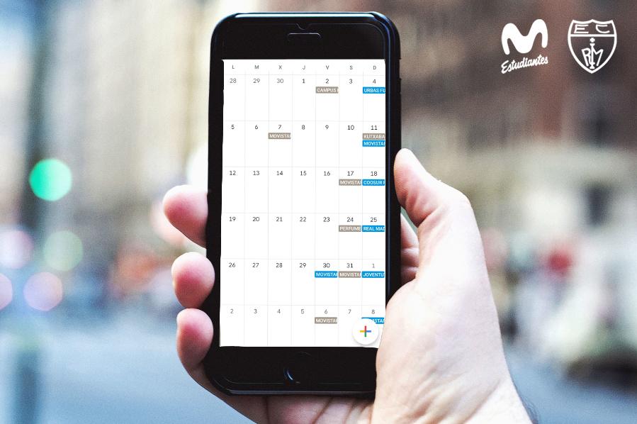 Calendario Movistar Estu 20-21 en tu móvil