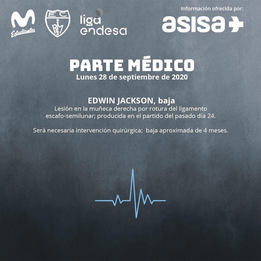 Parte médico: Edwin Jackson