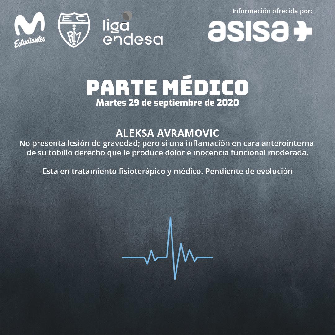 Parte médico: Aleksa Avramovic