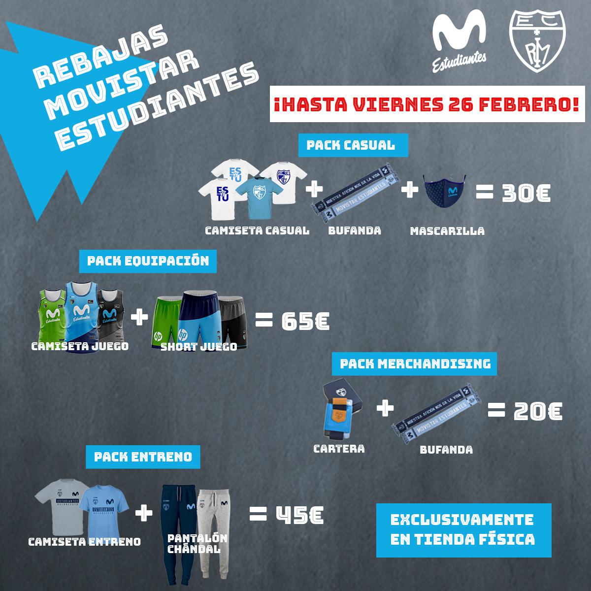 ¡Últimos días de rebajas en la tienda física de Movistar Estudiantes!