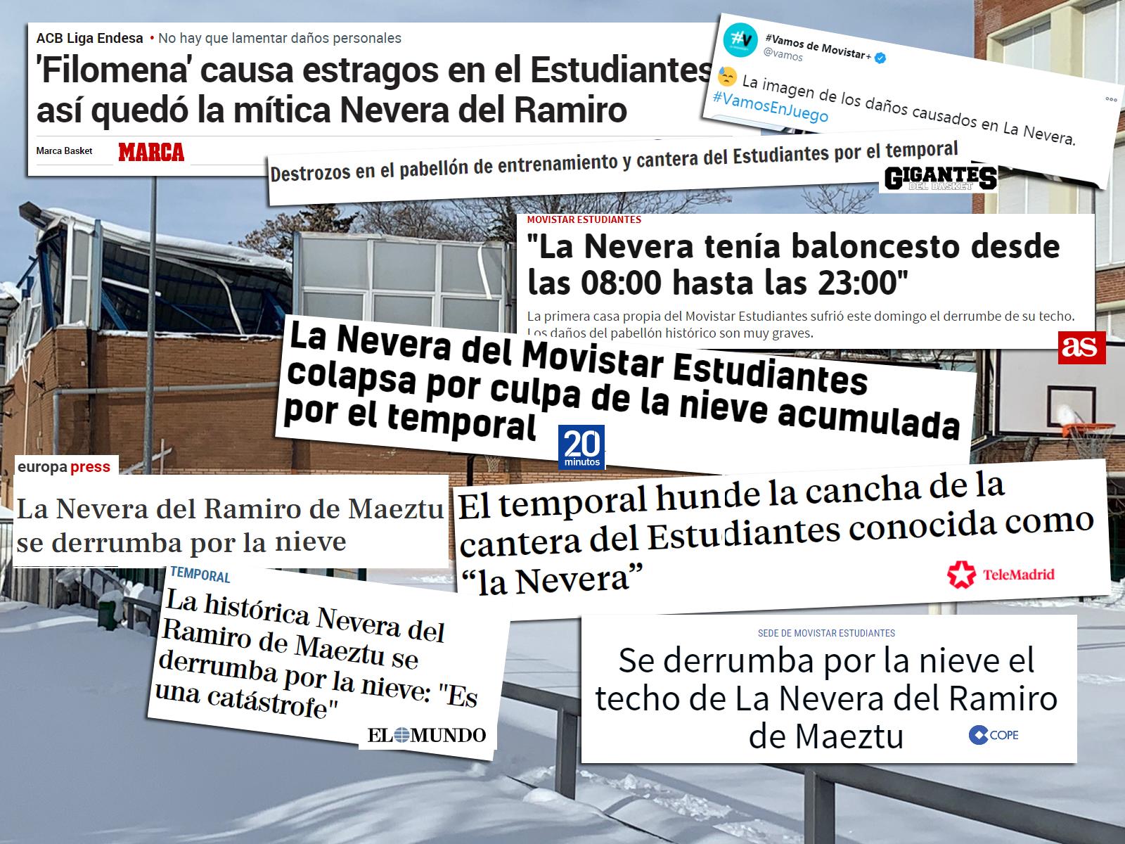 La catástrofe de La Nevera, en los medios