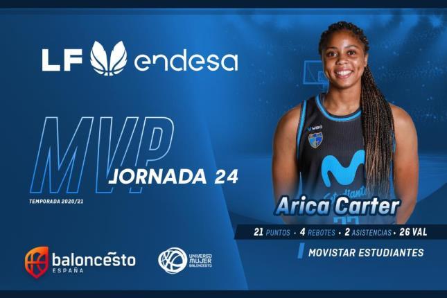 Arica Carter, MVP de la jornada 24 de LF Endesa