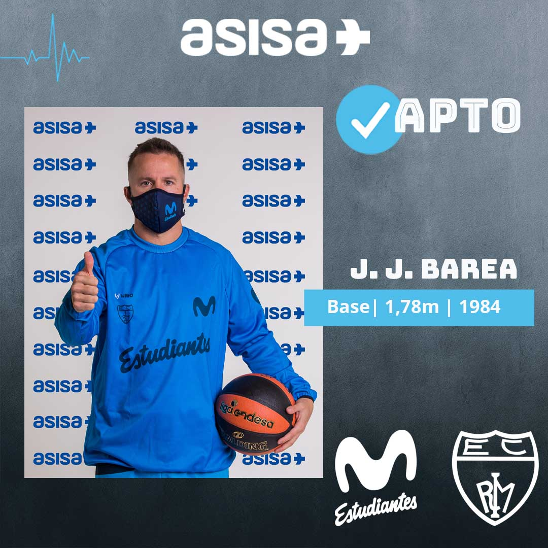 JJ Barea, apto en los reconocimientos médicos con ASISA