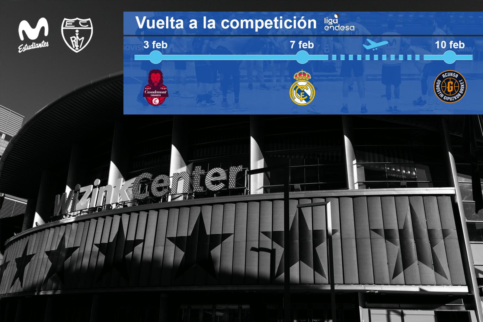 Liga Endesa: partidos ante Casademont, Real Madrid y Acunsa