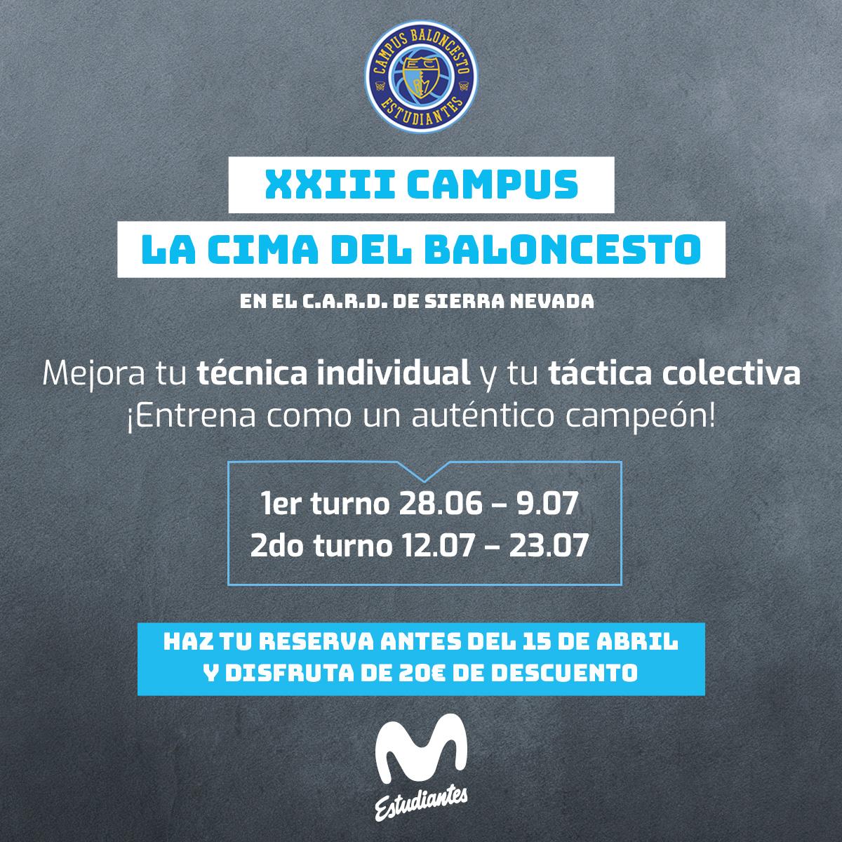XXIII Campus LA CIMA DEL BALONCESTO en Sierra Nevada