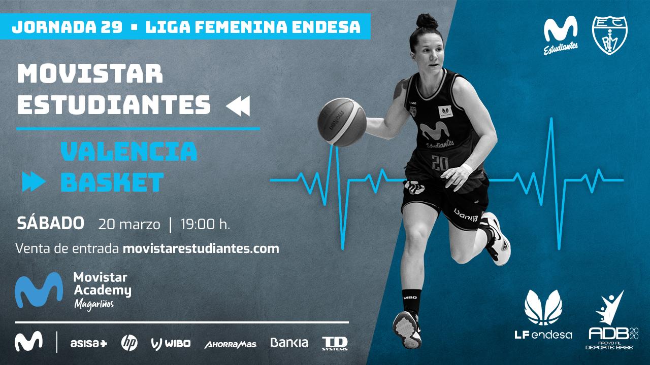 Entradas LFEndesa: Movistar Estu- Valencia Basket, sábado 20, 19h