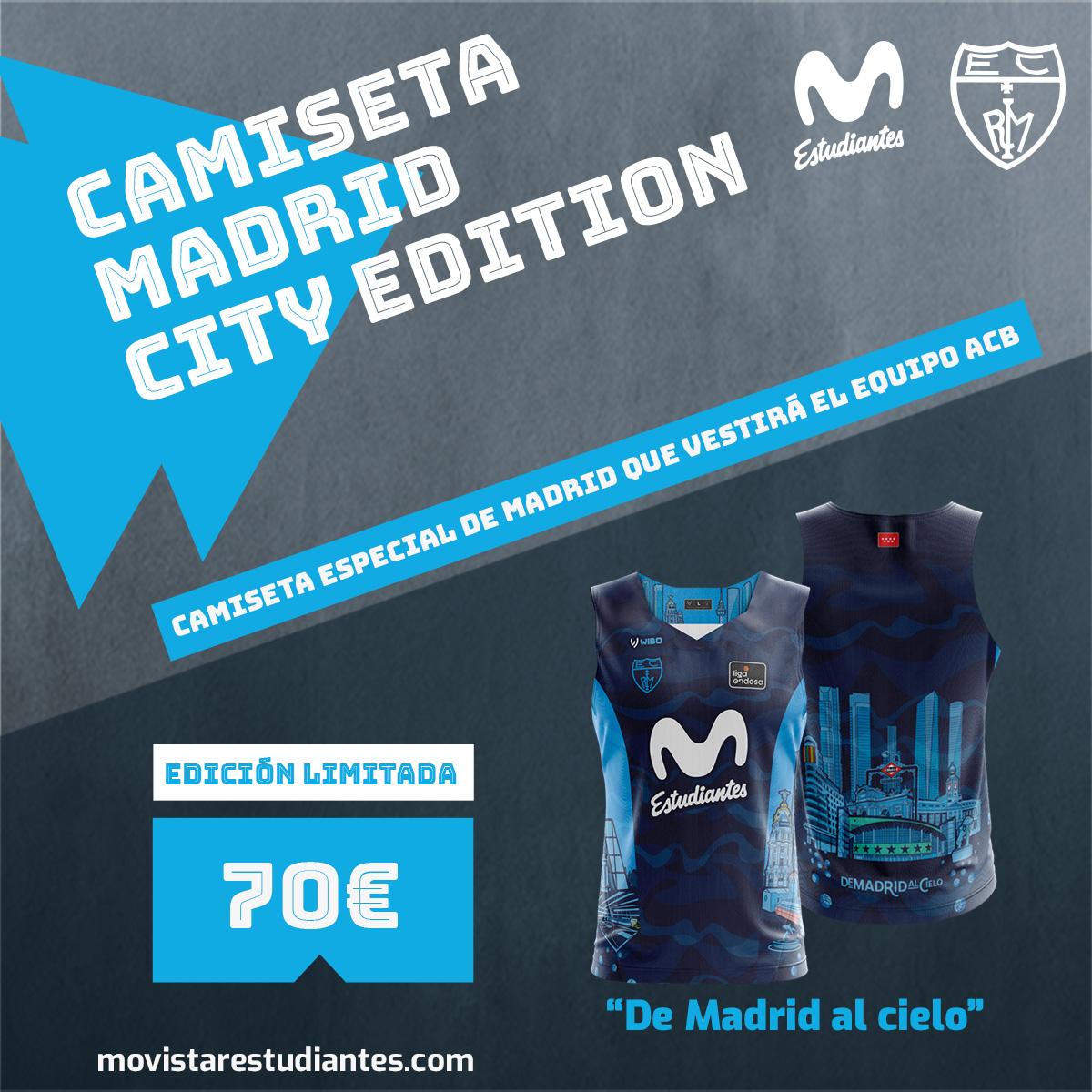 Camiseta edición Madrid ¡azul marino!