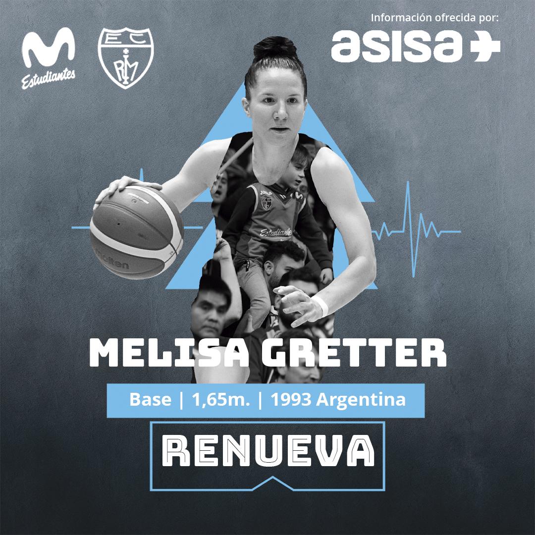 Melisa Gretter seguirá en Movistar Estudiantes