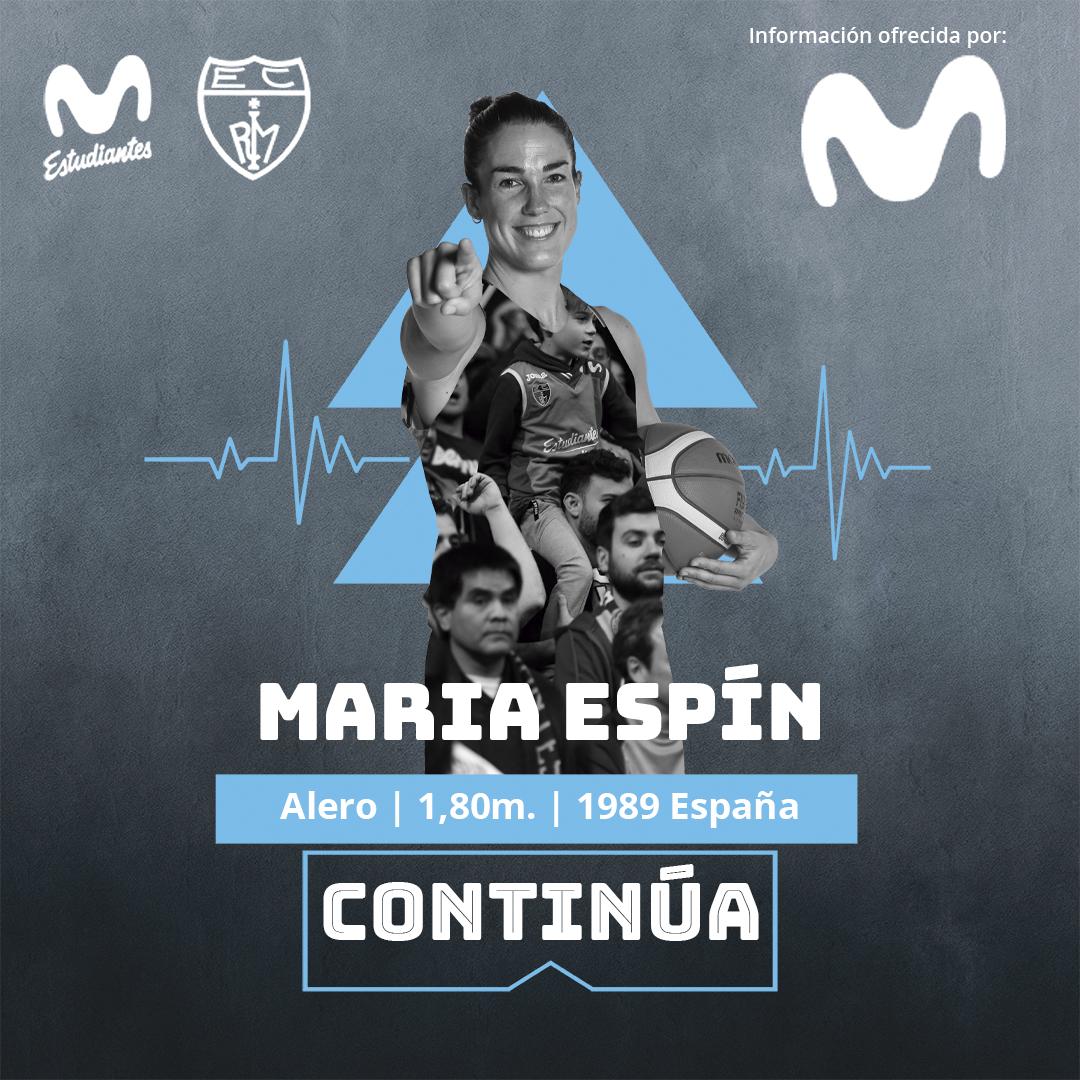 María Espín, un año más con Movistar Estudiantes