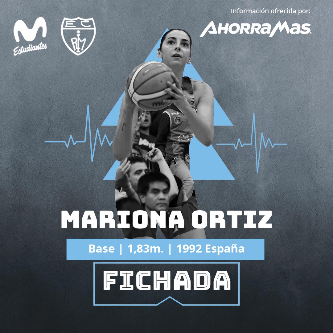 Mariona Ortiz, nueva jugadora de Movistar Estudiantes
