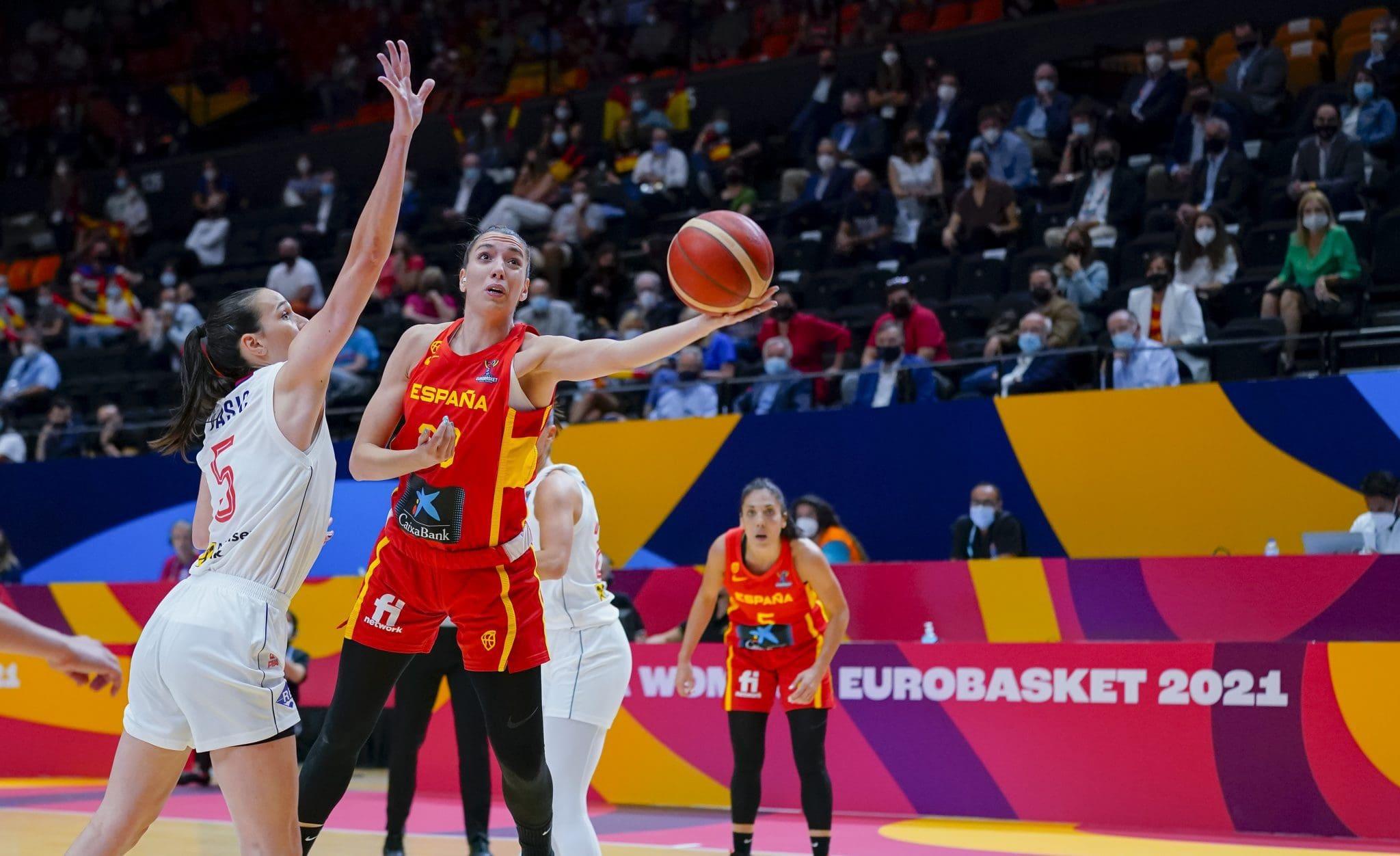 Laura Quevedo, en el Eurobasket
