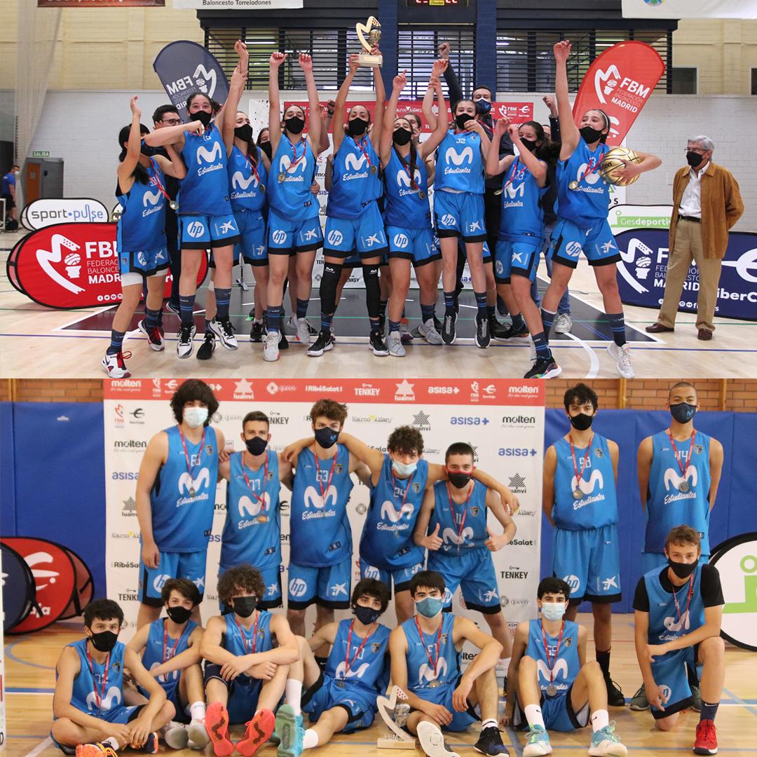 Ellas oro, ellos plata. Campeonatos de Madrid Infantiles