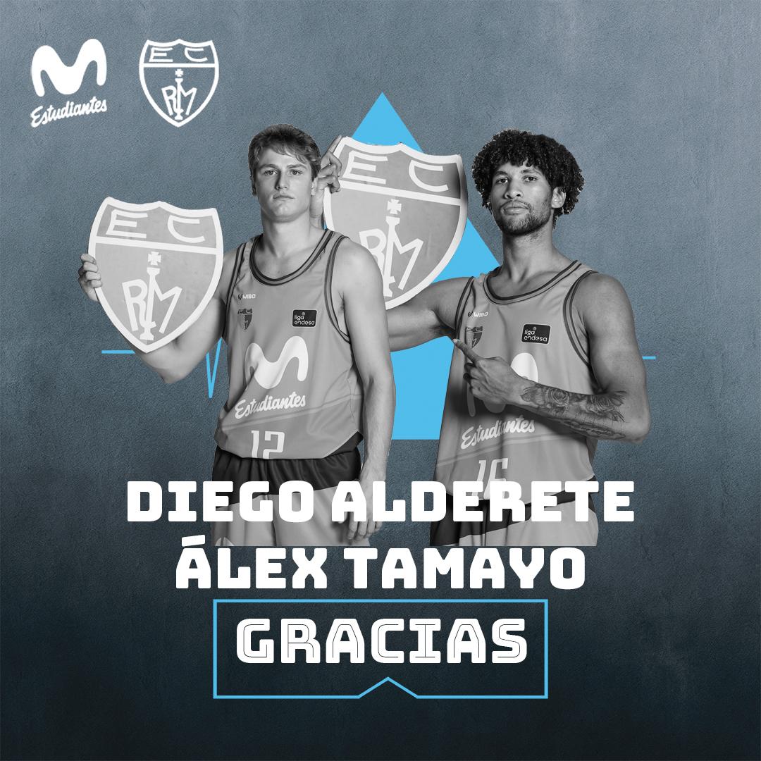 Diego Alderete y Álex Tamayo: gracias por todo