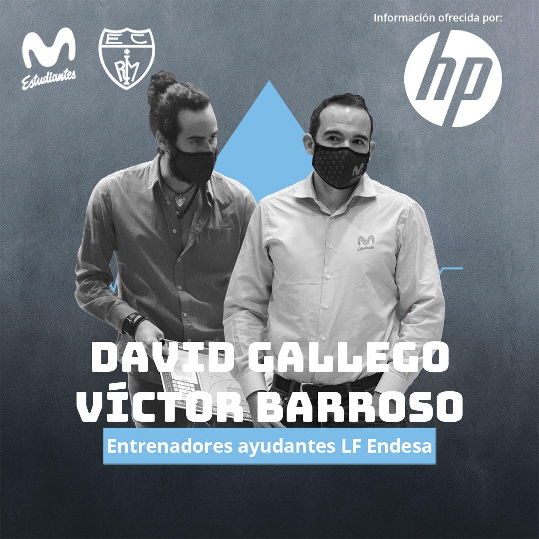 David Gallego y Víctor Barroso serán los ayudantes de Alberto Ortego