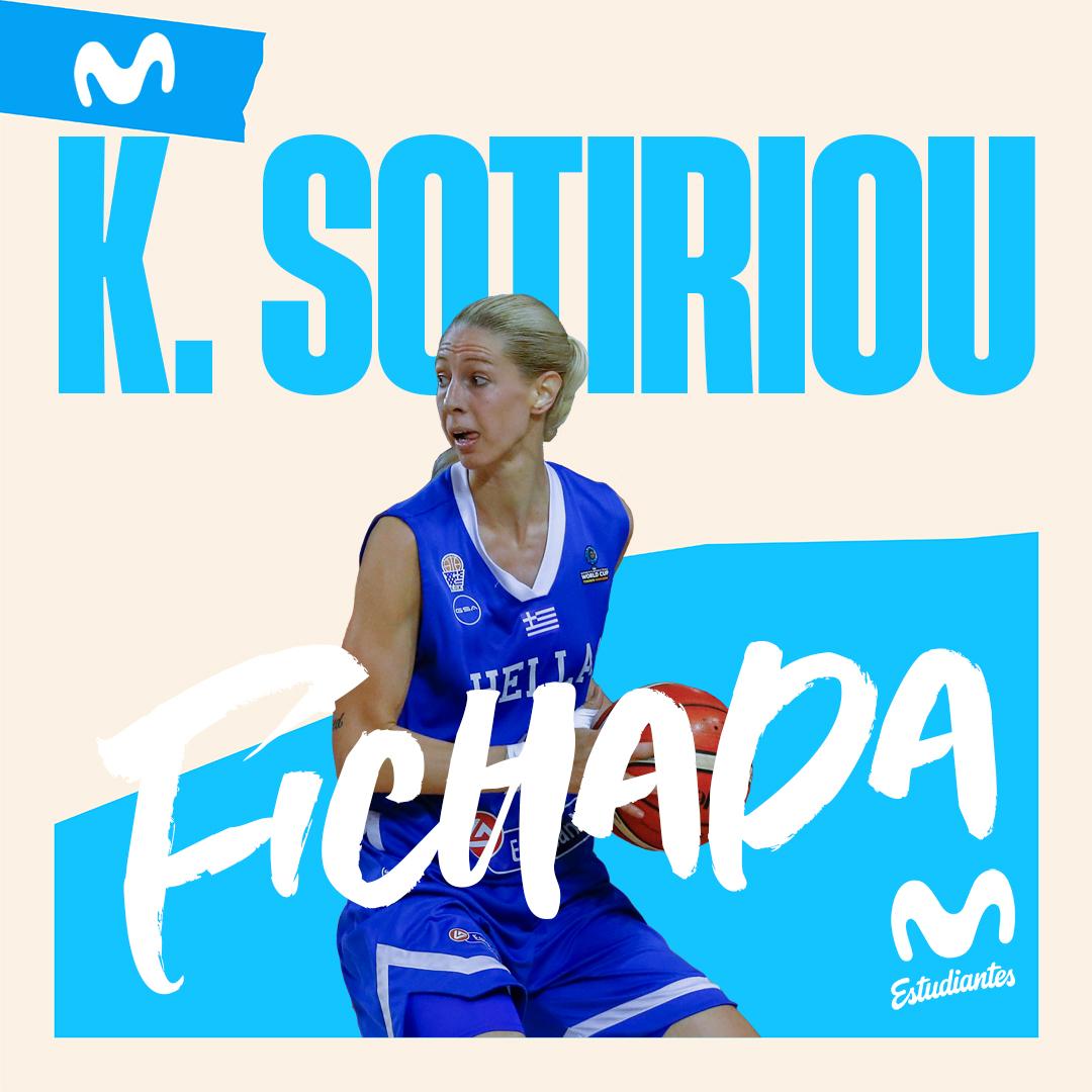 Katerina Sotiriou, nueva jugadora de Movistar Estudiantes