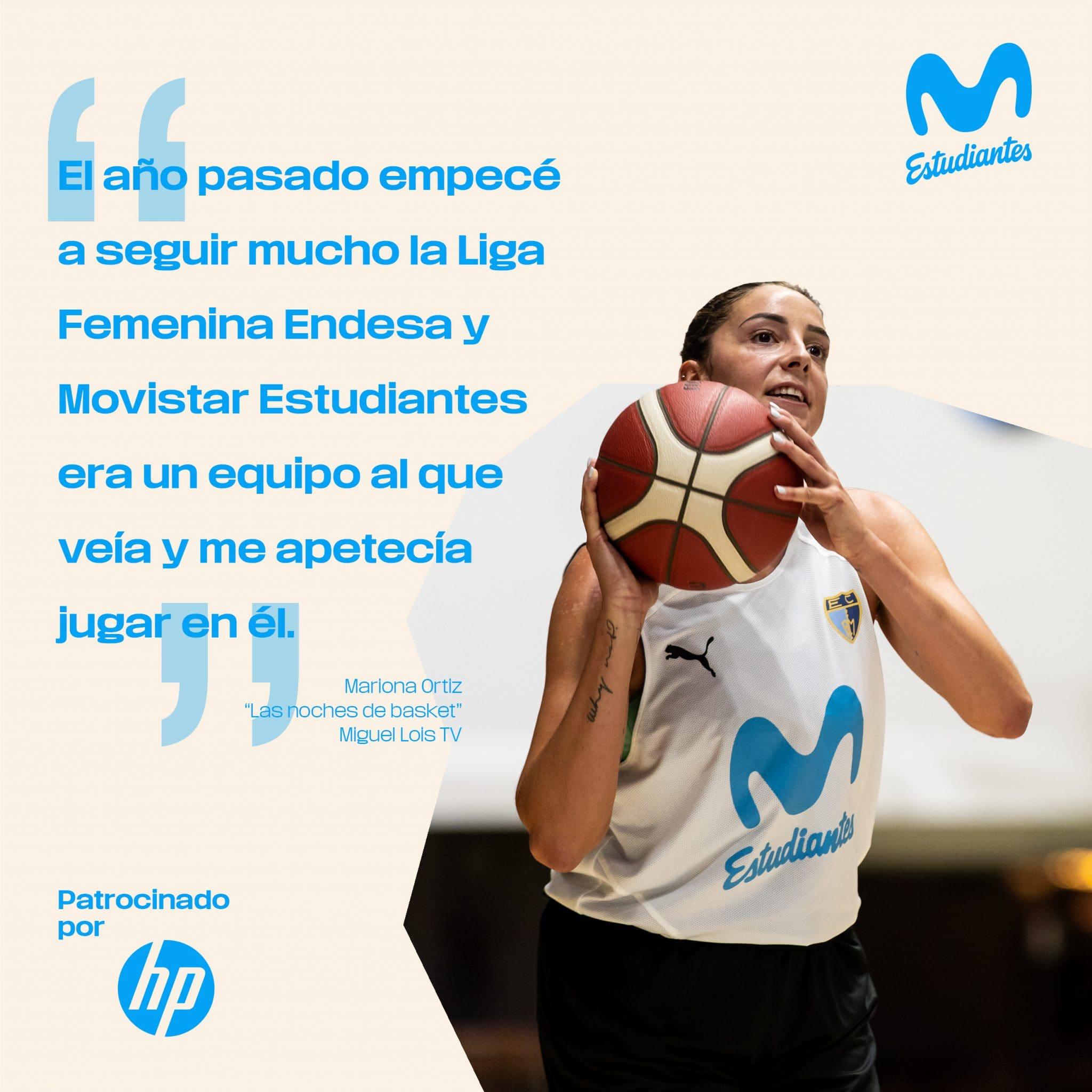 """Mariona Ortiz: """"veía a Movistar Estudiantes y me apetecía estar en él"""" (Noches de Basket)"""